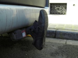 Tow bar protection shoe