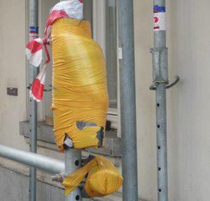 Padded scaffolding 2
